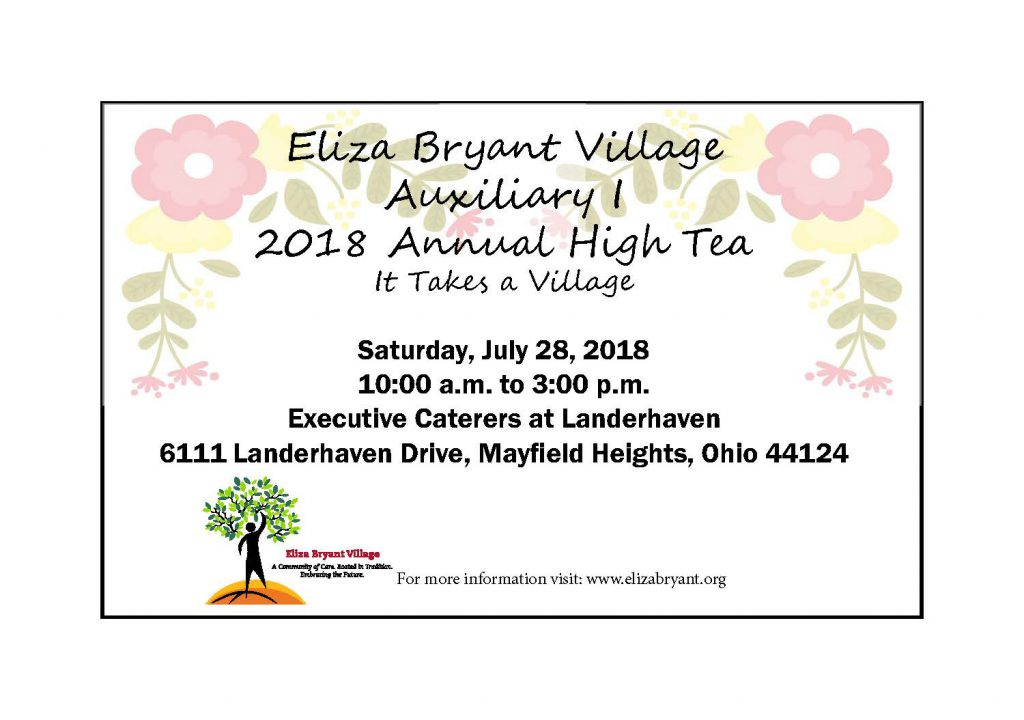 2018 Auxiliary I High Tea Flyer